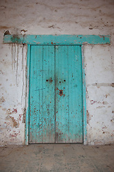 """Door 9"" - This old wooden door was photographed in the small mountain town of San Sebastian, Mexico."