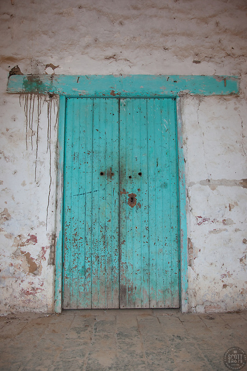"""""""Door 9"""" - This old wooden door was photographed in the small mountain town of San Sebastian, Mexico."""