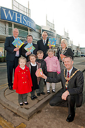 Ellie Walvin, Katie Reeder, Ellis Bennett and Maizie Trepte were among the pupils from Ryecroft Scholl Rawmarsh who celebrated World Book Day at Parkgate Shopping Rotherham with the help of Denis Copeland Parkgate Shopping Manager, Billy Smith Savills Area Property Manager and the Mayor of Rotherham Cllr Shaun Wright JP and the  Mayoress of Rotherham Mrs Lisa Wright .http://www.pauldaviddrabble.co.uk..1 March 2012 -  Image © Paul David Drabble