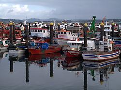 SPAIN GALICIA A POBRA 17DEC11 - Fishing boats moored in the port of A Pobra, Galicia, Spain...jre/Photo by Jiri Rezac..© Jiri Rezac 2011
