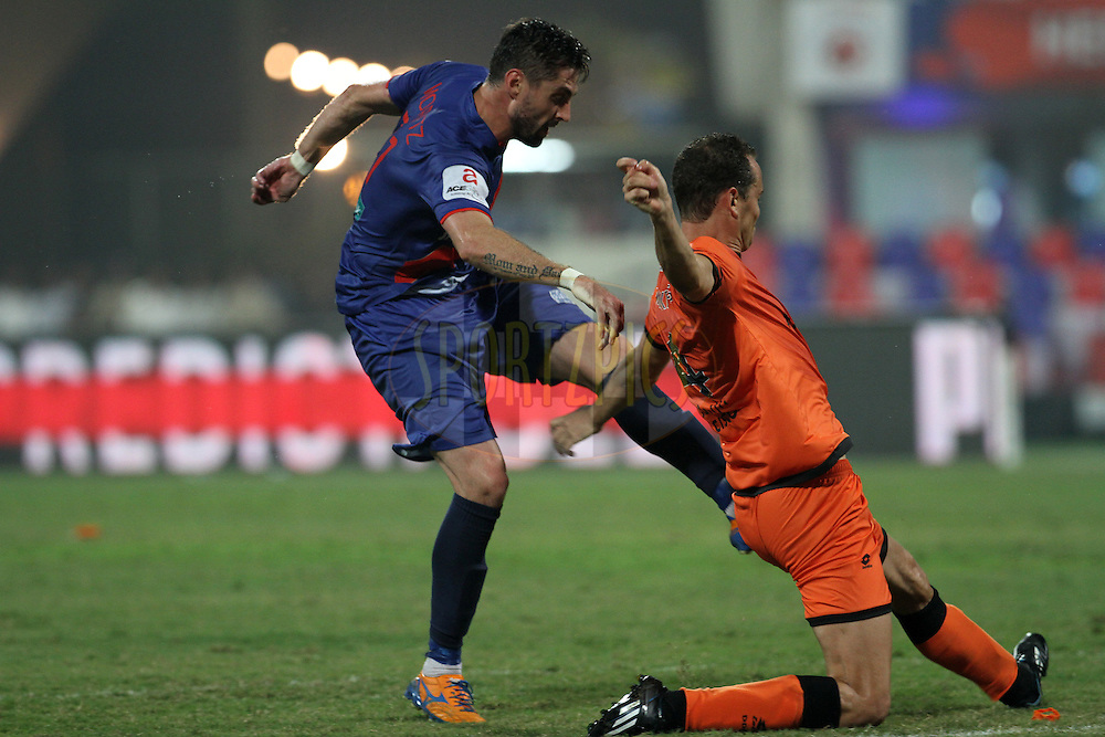 Andre Francisco Moritz of Mumbai City FC in action during match 22 of the Hero Indian Super League between Mumbai City FC and Delhi Dynamos FC City held at the D.Y. Patil Stadium, Navi Mumbai, India on the 5th November.<br /> <br /> Photo by:  Vipin Pawar/ ISL/ SPORTZPICS