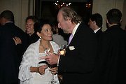 JUNG CHANG AND ED VICTOR, Tatler Summer party. Home House. Portman Sq. London. 27 June 2007.  -DO NOT ARCHIVE-© Copyright Photograph by Dafydd Jones. 248 Clapham Rd. London SW9 0PZ. Tel 0207 820 0771. www.dafjones.com.