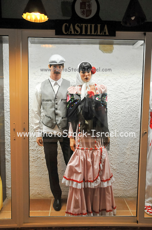 Display of traditional Spanish clothes from Castilla