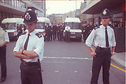 Police Observation at the 2nd Criminal Justice March, Victoria, London, UK, 23rd of July 1994.