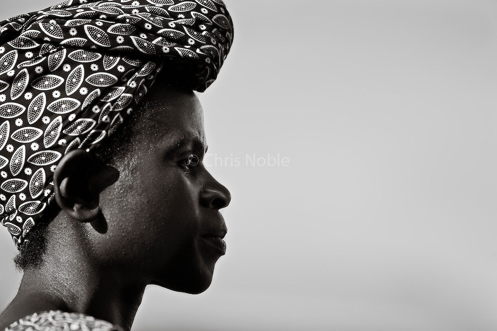 Portait of Clementine, village school teacher, and former member of Rwanda's Olympic Track and Field Team, she competed in the 1984 Olympics in Los Angeles.