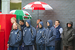 CHEPSTOW, WALES - Friday, May 23, 2014: Delegates watch a practical demonstration during the Football Association of Wales' National Coaches Conference 2014 at Dragon Park FAW National Development Centre. (Pic by David Rawcliffe/Propaganda)