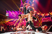 Jason Derulo performing at the iHeartRadio Music Festival in Las Vegas, Nevada on Sepembter 20, 2014.