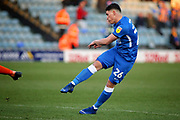 Peterborough Utd forward Matty Stevens (26) gets in a shot during the EFL Sky Bet League 1 match between Peterborough United and Shrewsbury Town at London Road, Peterborough, England on 23 February 2019.