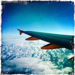easyjet in flight..Hipstamatic images taken on an Apple iPhone..©Michael Schofield.