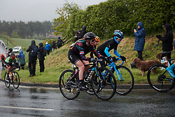 Hannah Barnes (GBR) climbs out of Robin Hood Bay at ASDA Tour de Yorkshire Women's Race 2019 - Stage 2, a 132 km road race from Bridlington to Scarborough, United Kingdom on May 4, 2019. Photo by Sean Robinson/velofocus.com