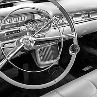 "1957 Cadillac ""Donna"" dash black and white"