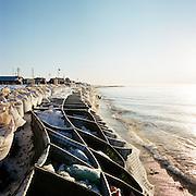 KIVALINA, ALASKA - 2007: Kivalina Sea Wall.