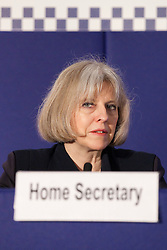 © Licensed to London News Pictures. 22/05/2012. Manchester, UK. The Home Secretary, Theresa May, addresses the ACPO conference in Manchester. Photo credit : Joel Goodman/LNP