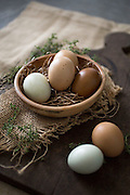 Farm eggs and Rosemary