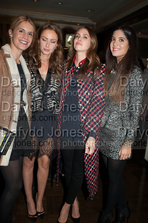EUGENIE NIARCHOS; CAMILLA AL FAYAD; DASHA ZHUKOVA; NOOR FARES, Opening of Morris Lewis: Cyprien Gaillard. From Wings to Fins, Sprüth Magers London Grafton St. London. Afterwards dinner at Simpson's-in-the-Strand hosted by Monika Spruth and Philomene Magers.
