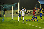 Solihull Moors Liam Daly(4) scores an own goal during the Vanarama National League match between Solihull Moors and Forest Green Rovers at the Automated Technology Group Stadium, Solihull, United Kingdom on 25 October 2016. Photo by Shane Healey.