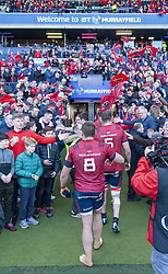 March 30, 2019 - Edinburgh, Scotland, United Kingdom - Munster players celebrates during the Heineken Champions Cup Quarter Final match between Edinburgh Rugby and Munster Rugby at Murrayfield Stadium in Edinburgh, Scotland, United Kingdom on March 30, 2019  (Credit Image: © Andrew Surma/NurPhoto via ZUMA Press)