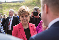 Scottish National Party leader, Nicola Sturgeon, joins Council candidates in Edinburgh to launch the SNP's manifesto for the 2017 Local Government election.<br /> <br /> <br /> Pictured: First Minister, Nicola Sturgeon