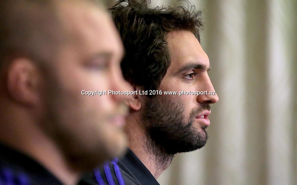 New Zealand Rugby Press Conference, Castleknock Hotel, Dublin 14/11/2016<br /> Sam Whitelock<br /> Mandatory Credit &copy;INPHO/Donall Farmer