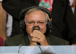 LIVERPOOL, ENGLAND - Monday, August 24, 2009: Ron Atkinson before the Premiership match between Liverpool and Aston Villa at Anfield. (Photo by David Rawcliffe/Propaganda)