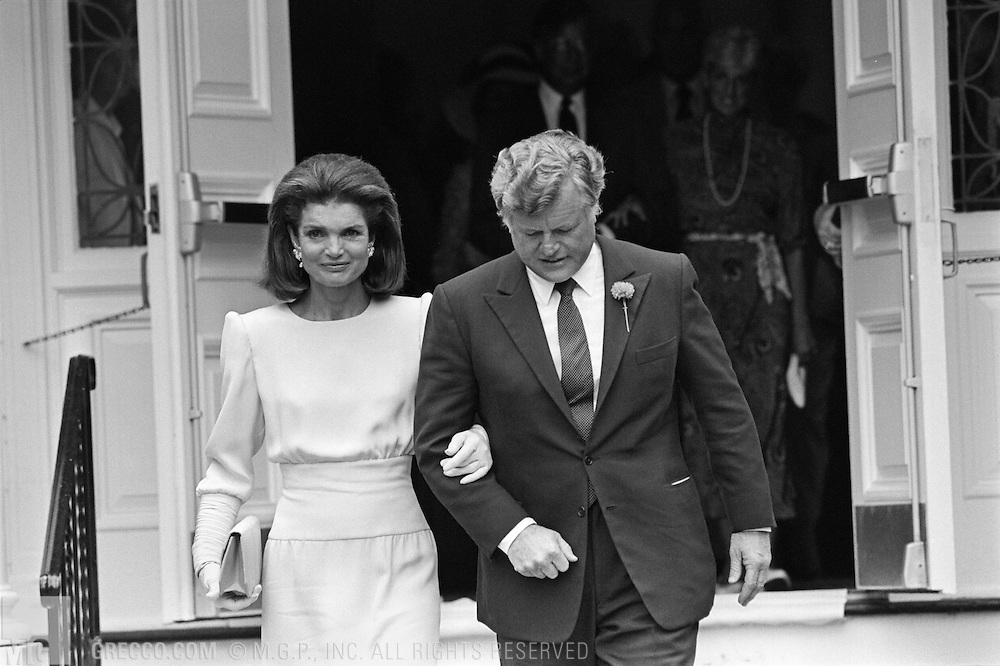 Jacqueline kennedy and ted kennedy mgp stock photos hyannis port ma july 19 maria shriver is a bridesmaid at caroline kennedys altavistaventures Gallery