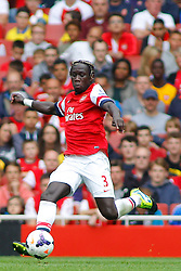 Arsenal's Bacary Sagna in action  - Photo mandatory by-line: Mitch Gunn/JMP - Tel: Mobile: 07966 386802 17/08/2013 - SPORT - FOOTBALL - Emirates Stadium - London -  Arsenal V Aston Villa - Barclays Premier League