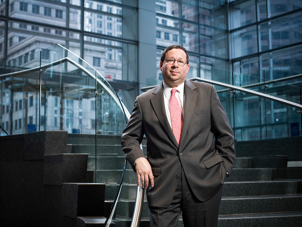 David L. Cohen is Executive Vice President of Comcast Corporation and was photographed in the lobby of the company's new headquarters in Philadelphia on April 11, 2008. Before assuming this position in July of 2002, Mr. Cohen served as a partner in and Chairman of Ballard Spahr Andrews & Ingersoll, LLP. From January 1992 to April 1997, Mr. Cohen served as Chief of Staff to the Honorable Edward G. Rendell, the Mayor of the City of Philadelphia.  As detailed in the book A Prayer for the City, written by Pulitzer-Prize winning author Buzz Bissinger, Mr. Cohen played a critical coordinating role in significant budgetary and financial issues, in economic development activities, in collective bargaining negotiations, and in a wide variety of other policy and operational issues relating to the city.