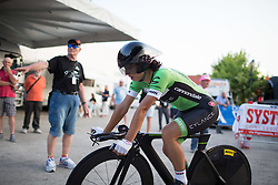 Rossella Ratto (ITA) of Cylance Pro Cycling finishes at Giro Rosa 2016 - Prologue. A 2 km individual time trial in Gaiarine, Italy on July 1st 2016.
