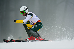 Mitchell GOURLEY competing in the Alpine Skiing Super Combined Slalom at the 2014 Sochi Winter Paralympic Games, Russia