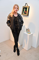FLORA OGILVY at a private view of Bright Young Things held at the David Gill Gallery, 2-4 King Street, London on 19th April 2016.