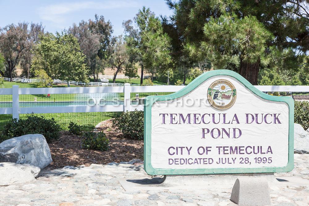 Temecula Duck Pond Signage
