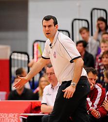 Bristol Flyers head coach, Andreas Kapoulas  - Photo mandatory by-line: Joe Meredith/JMP - Mobile: 07966 386802 - 18/04/2015 - SPORT - Basketball - Bristol - SGS Wise Campus - Bristol Flyers v Leeds Force - British Basketball League