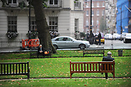 UK. London. Berkeley Square, Mayfair, the heart of London's banking and Hedge Fund business.