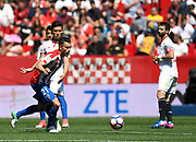 Xavi Torres of Sporting Gijon during the Spanish championship Liga football match between Sevilla FC and Sporting Gijon on April 2, 2017 at Sanchez Pizjuan stadium in Sevilla, Spain - photo Cristobal Duenas / Spain / ProSportsImages / DPPI