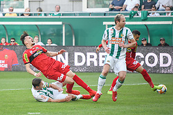 25.05.2019, Allianz Stadion, Wien, AUT, 1. FBL, SK Rapid Wien vs Cashpoint SCR Altach, Qualifikationsgruppe, 32. Spieltag, im Bild v.l. Maximilian Hofmann (Rapid Wien), Mergim Berisha (SCR Altach), Mario Sonnleitner (Rapid Wien) // during the tipico Bundesliga qualification group 32nd round match between SK Rapid Wien and Cashpoint SCR Altach at the Allianz Stadion in Wien, Austria on 2019/05/25. EXPA Pictures © 2019, PhotoCredit: EXPA/ Lukas Huter