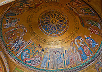 Close-up of the fabulous dome mosaic in St. Mark's Basilica in Venice, Italy.