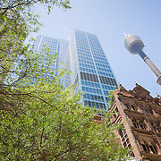 Old and new buidlings side by side in Sydney CBD