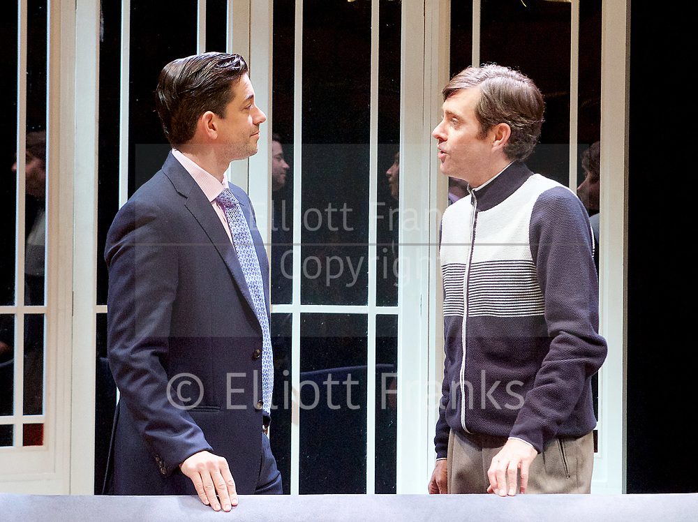 Twilight Song <br /> by Kevin Elyot <br /> Park Theatre, London, Great Britain <br /> Press photocall <br /> 13th July 2017 <br /> <br /> directed by Anthony Banks <br /> <br /> Adam Garcia as Skinner <br /> <br /> Paul Higgins as Barry <br /> <br /> <br /> <br /> <br /> <br /> <br /> Photograph by Elliott Franks <br /> Image licensed to Elliott Franks Photography Services
