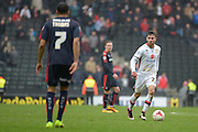 MK Dons defender George Baldock during the Sky Bet Championship match between Milton Keynes Dons and Rotherham United at stadium:mk, Milton Keynes, England on 9 April 2016. Photo by Dennis Goodwin.