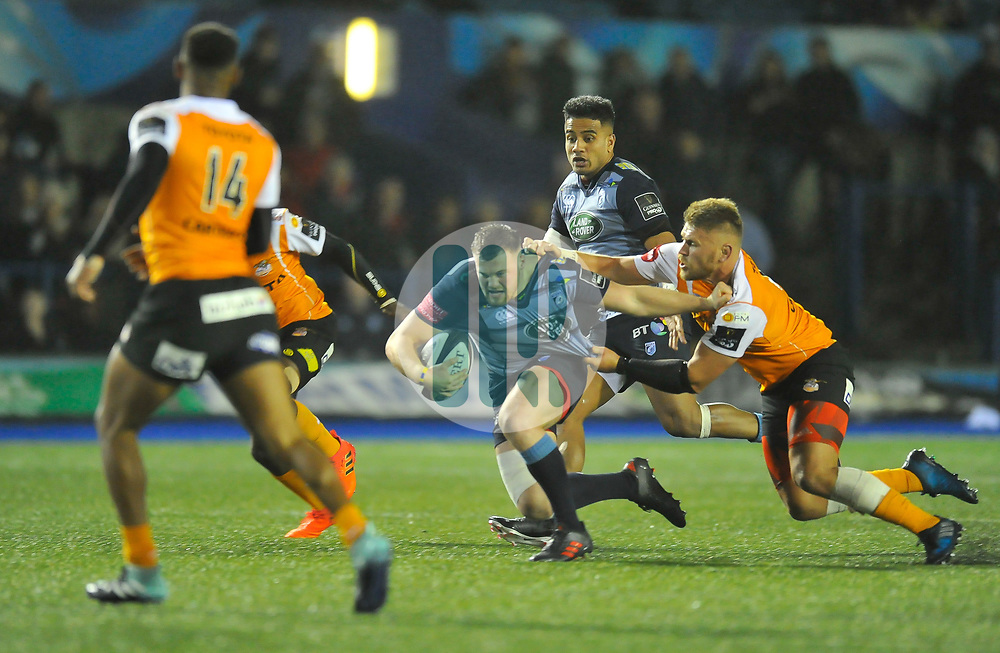 Cardiff Blues' Owen Lane<br /> Photographer Mike Jones/Replay Images<br /> <br /> Guinness PRO14 Round 14 - Cardiff Blues v Cheetahs - Saturday 10th February 2018 - Cardiff Arms Park - Cardiff<br /> <br /> World Copyright © Replay Images . All rights reserved. info@replayimages.co.uk - http://replayimages.co.uk