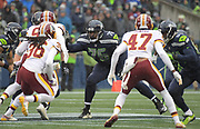 Nov 5, 2017; Seattle, WA, USA; Seattle Seahawks offensive tackle Duane Brown (76) blocks during an NFL football game against the Washington Redskins at CenturyLink Field.