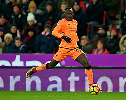 STOKE-ON-TRENT, ENGLAND - Wednesday, November 29, 2017: Liverpool's Sadio Mane during the FA Premier League match between Stoke City and Liverpool at the Bet365 Stadium. (Pic by David Rawcliffe/Propaganda)