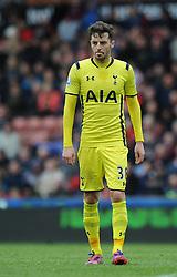 Tottenham Hotspur's Ryan Mason cuts a dejected figure - Photo mandatory by-line: Dougie Allward/JMP - Mobile: 07966 386802 - 09/05/2015 - SPORT - Football - Stoke - Britannia Stadium<br />  - Stoke v Tottenham Hotspur - Barclays Premier League