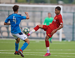 NAPLES, ITALY - Tuesday, September 17, 2019: Liverpool's Elijah Dixon-Bonner during the UEFA Youth League Group E match between SSC Napoli and Liverpool FC at Stadio Comunale di Frattamaggiore. (Pic by David Rawcliffe/Propaganda)