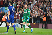 Everton goalkeeper Jordan Pickford (1) looks dejected following Aston Villas second goal during the Premier League match between Aston Villa and Everton at Villa Park, Birmingham, England on 23 August 2019.