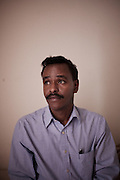 Mr. Bihi, uncle of Burhan Hassan, a 17 year old Somali immigrant who disappeared in Minneapolis, Minnesota. Photographed in his nephew's room on Thursday, January 22, 2009