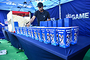 Popcorn for sale during the International Series match between Tennessee Titans and Los Angeles Chargers at Wembley Stadium, London, England on 21 October 2018.