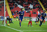 Daryl Murphy (9) of Ipswich Town celebrates after scoring the opening goal during the Sky Bet Championship match at The Valley, London<br /> Picture by Alan Stanford/Focus Images Ltd +44 7915 056117<br /> 28/11/2015