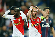 Monaco's French forward Valere Germain gestures during the French League Cup, Final football match between AS Monaco and Paris Saint-Germain FC on April 1, 2017 at the Parc Olympique Lyonnais stadium in Decines-Charpieu near Lyon, France - Photo Benjamin Cremel / ProSportsImages / DPPI