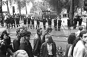 Police line at the 3rd Criminal Justice March,London,9th of October, 1994
